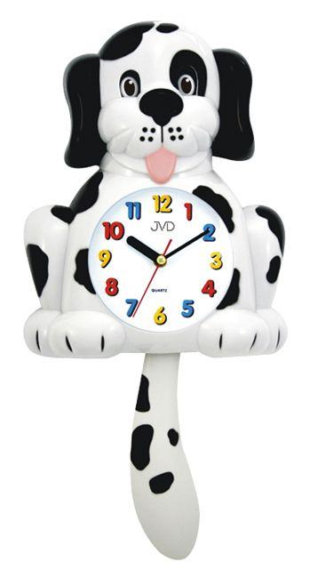 Dětské nástěnné hodiny JVD HF 61.2 pes s kyvadlem