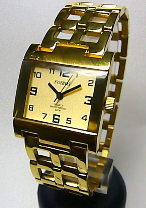 Celozlaté titanové antialergické dámské hodinky Foibos 20871 (zlacené) (Foibos 20871)