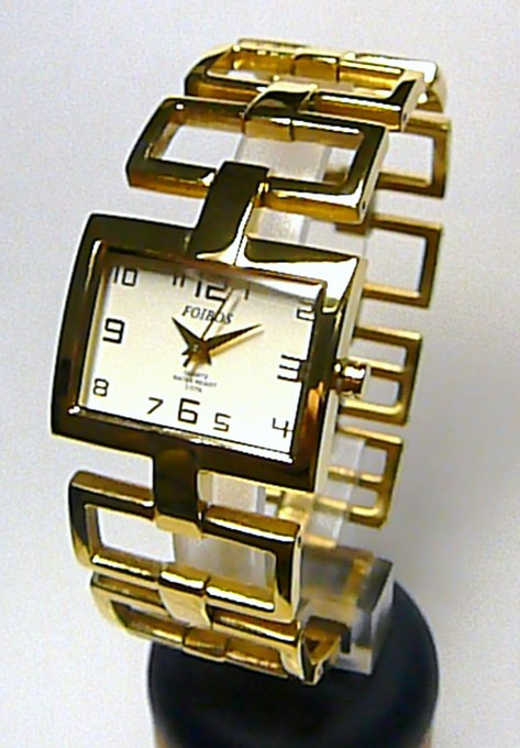 Dámské ocelové zlacené moderní hodinky Foibos 18331 (Foibos 18331)