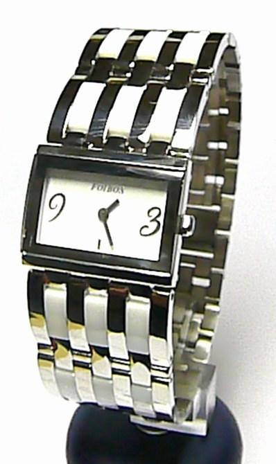Luxusní dámské bílé keramické ocelové hodinky Foibos 1B56 (bílá keramika) (Foibos 1B56)