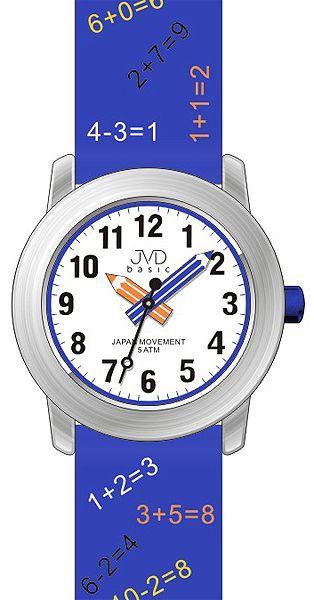 Dětské modré náramkové hodinky JVD basic J7120.2 s tahákem pro děti :-) 5ATM