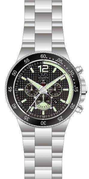 Vysoce odolné náramkové hodinky JVD Seaplane JS17.4 chornograf 10ATM