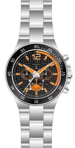 Vysoce odolné oranžové hodinky JVD Seaplane JS17.3 - chronografy 10ATM