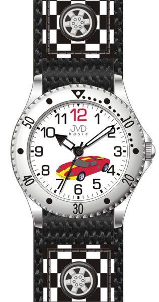 Chlapecké dětské sportovní hodinky JVD basic J7126.3 se závodním autem