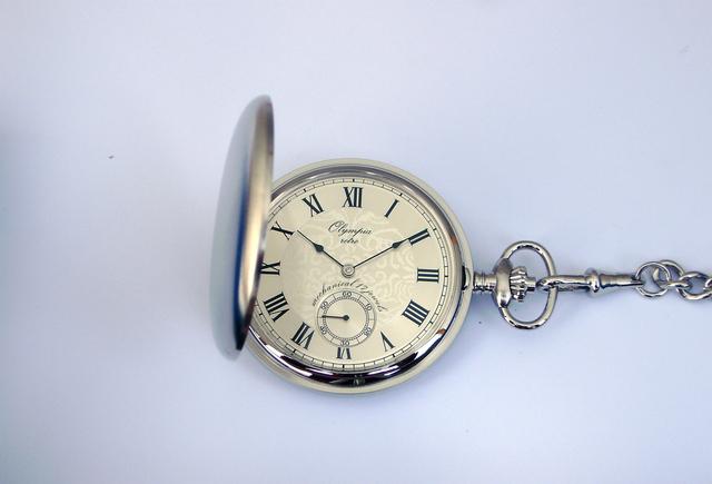 Luxusní stříbrné mechanické Olympia kapesní hodinky 35030 s římskými  číslicemi 94e1401972