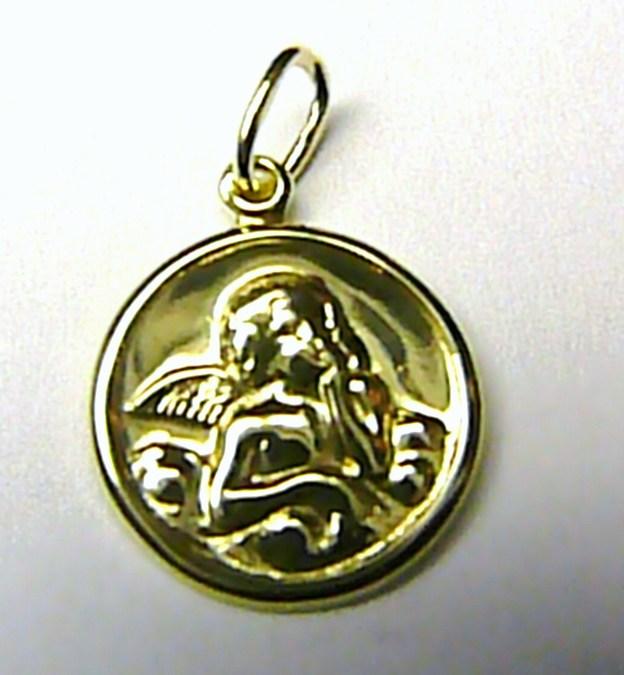 Velký zlatý přívěsek - zlatý anděl - andělíček ze zlata 0,8gr S096 (24200100020)