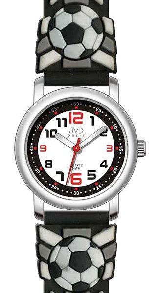 Cerné dětské fotbalové chlapecké hodinky JVD basic J7007.10 - 5ATM