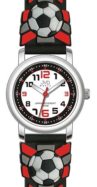 Červené dětské fotbalové chlapecké hodinky JVD basic J7007.12 - 5ATM