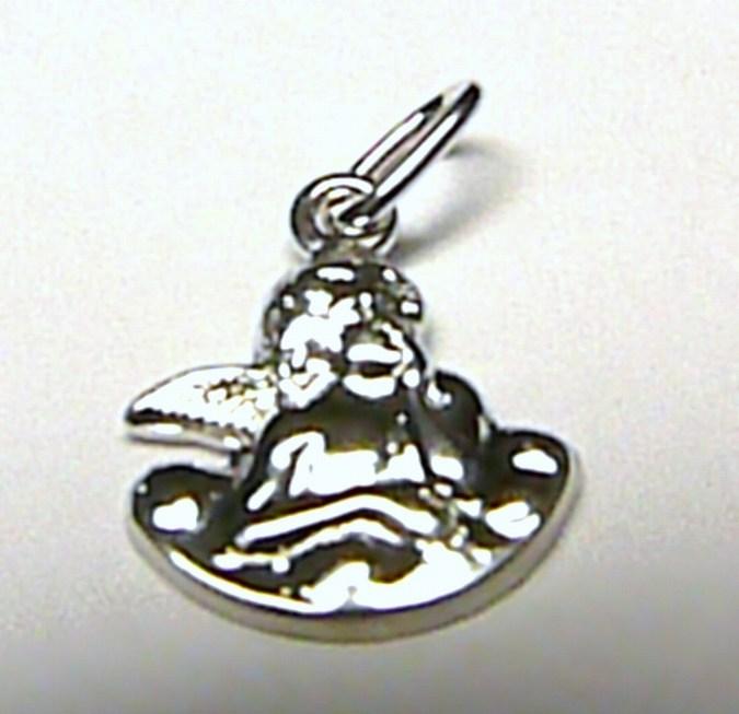 Zlatý anděl - přívěsek z bílého zlata - andělíček 585/0,45gr S105 (2,41E+12)