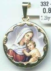 Luxusní zlatý přívěsek - zlatá madonka s dítětem - žluté zlato 585/3,57gr (3320045 - POŠTOVNÉ ZDARMA)