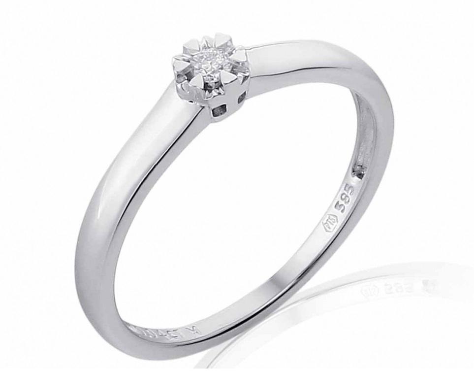 Luxusni Zasnubni Prsten S Diamantem Bile Zlato Brilianty 585 1 75gr