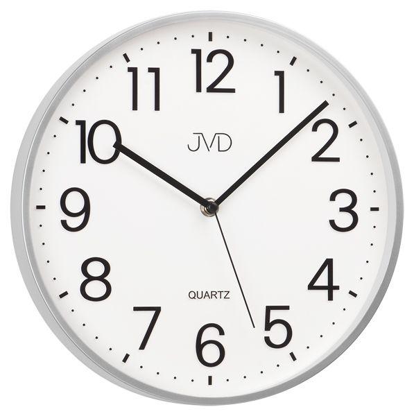 Bílé kuchyňské čitelné nástěnné hodiny JVD sweep HA6.1