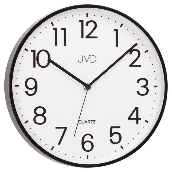 Černé kuchyňské čitelné nástěnné hodiny JVD sweep HA6.2