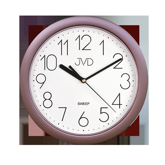 Plastové nástěnné netikající tiché hodiny JVD sweep HP612.16