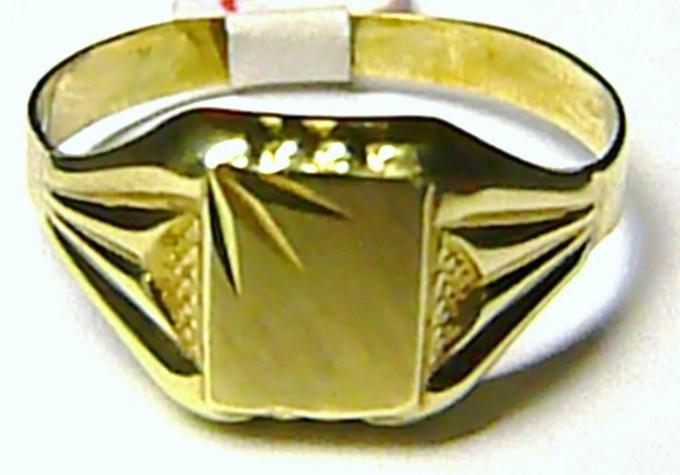 44e710c43 Mohutný zlatý pánský prsten ze žlutého zlata 585/2,50gr T083 vel. 58 ...