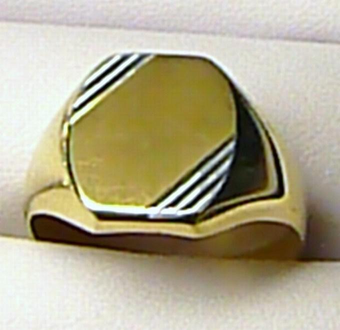 ca19a148c Obrovský mohutný pánský zlatý prsten - dvojí zlato 585/5,37gr 1410241 vel.  73