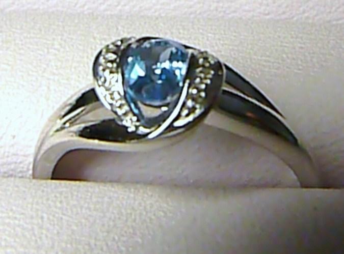 Luxusní diamantový prsten s BLUE TOPAZEM (modrý topaz) a diamanty vel. 55