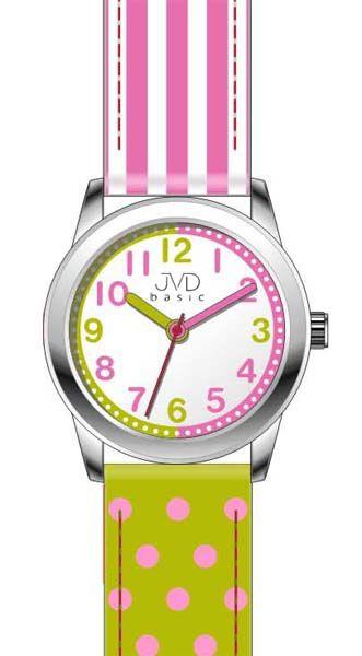Dívčí čitelné barevné náramkové hodinky JVD basic W41.1