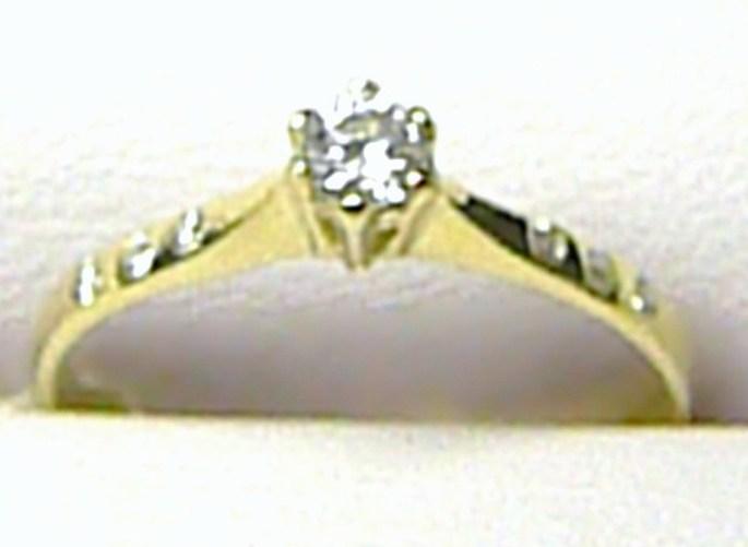 Luxusní zlatý zásnubní prstýnek s centrálním zirkonem 585/1,40gr vel. 55 P121