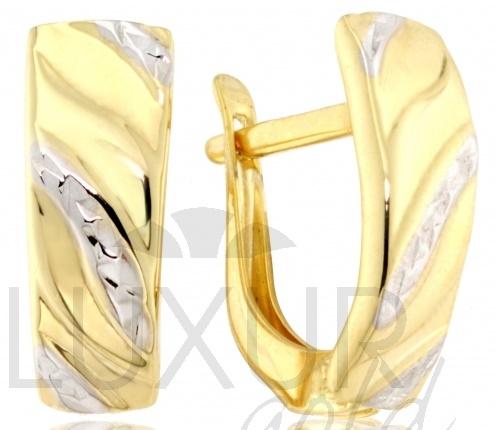 Dámské mohutné náušnice z bílého a žlutého zlata 585/1,35gr 1430851 (1430851 )