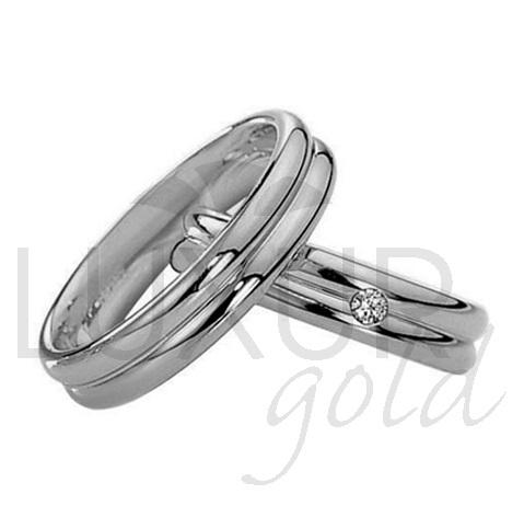Luxusní snubní prsteny bílé zlato 436-504-505 snubáky - cena 1ks (436-504-505 )