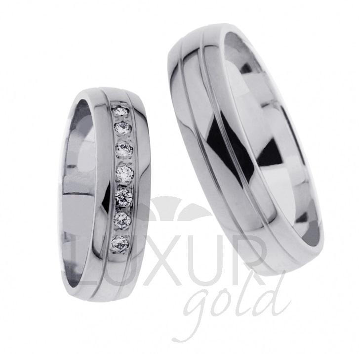 Snubní prsten bílé zlato 436-621-622 z bílého zlata cena 1ks (436-621-622 )