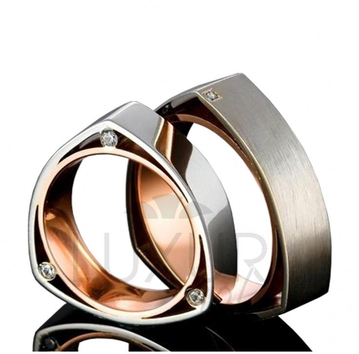 Exkluzivní snubní prsteny, červeno bílé zlato, 436-510-511 - luxusní snubáky 1ks (436-510-511 )