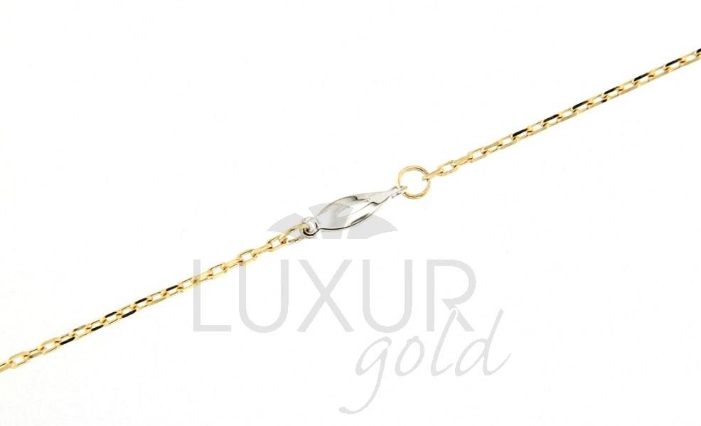 Ozdobný zlatý náramek ze žlutého a bílého zlata 19cm 1440609-5-12-0 (1440609-5-12-0)