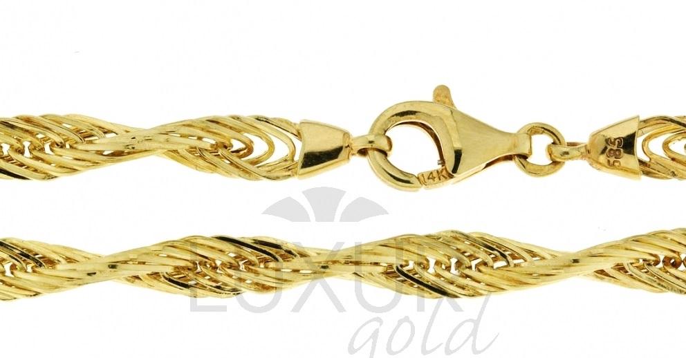 Ozdobný mohutný náramek náhrdelník ze žlutého zlata 585/18cm 3040500-0-18-0 (3040500-0-18-0)