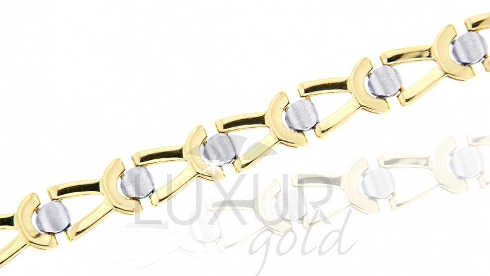 Mohutný silný ozdobný zlatý náramek 585/18cm 1440479-6-18-0 (1440479-6-18-0)
