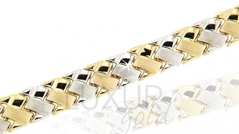 Luxusní mohutný silný zlatý náramek 585/17cm 1440560-6-17-0