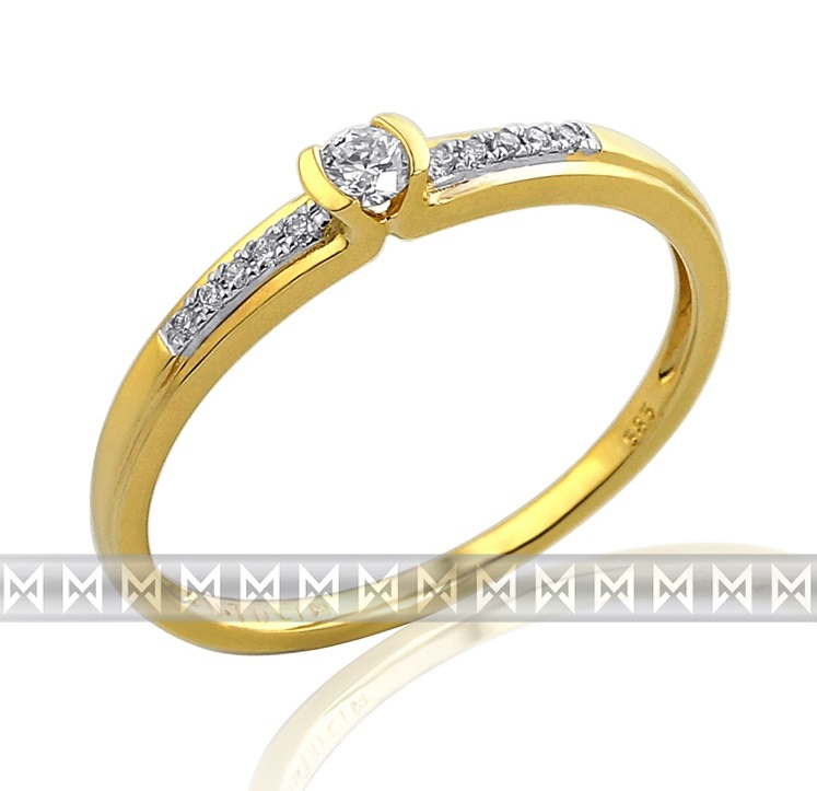 Luxusní zásnubní diamantový prsten GEMS diamonds, žluté zlato 3810827-5-54-99 (3810827-5-54-99)