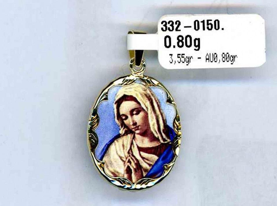Luxusní zlatý přívěsek - velká zlatá smaltovaná madonka 3,55gr 3320150-0-0-0 (3320150-0-0-0)