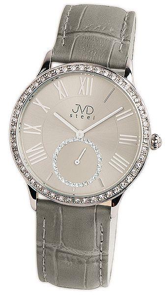 Luxusní dámské náramkové hodinky se zirkony JVD Steel W45.2 5ATM