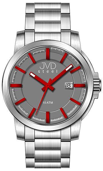 Vodotěsné odolné pánské hodinky JVD steel W48.2 10ATM f7961de1d7