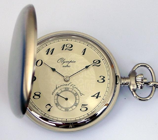 Luxusní mechanické Olympia kapesní hodinky 35031 s ručním natahováním f5b7b55cf8