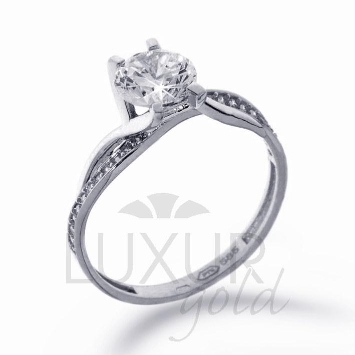Zásnubní prsten bílé zlato se zirkonem 1261091-0-51-1 ( 1261091-0-51-1)