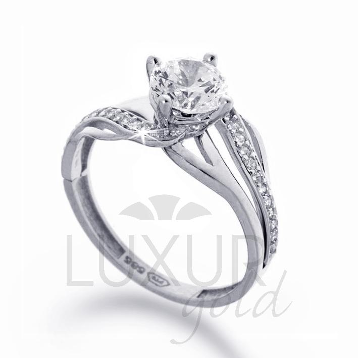 Zásnubní prsten bílé zlato se zirkonem 1261107-0-53-1 (1261107-0-53-1)