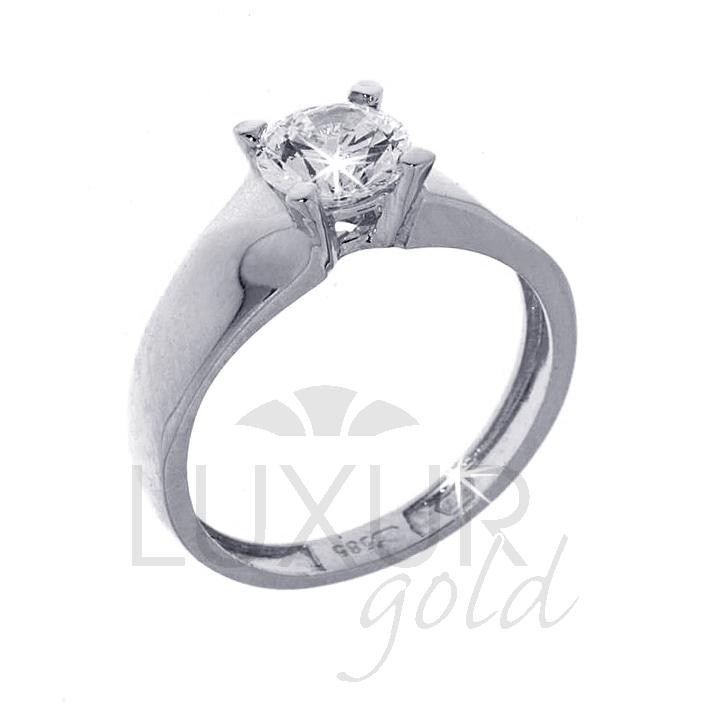 Mohutný zásnubní prsten bílé zlato se zirkonem 1261015-0-53-1 (1261015-0-53-1)