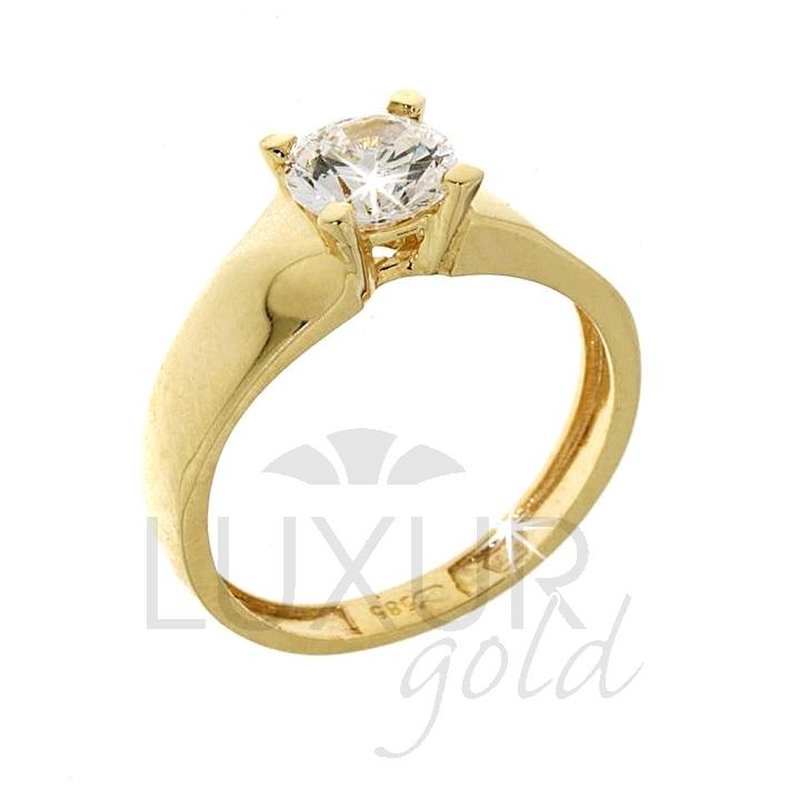 Zásnubní prsten žluté zlato se zirkonem 1211015-0-54-1 (1211015-0-54-1)