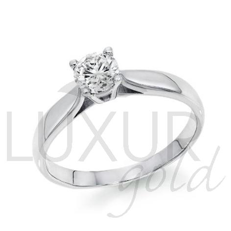 Zásnubní diamantový prsten, bílé zlato, RUNA, GEMS, 40610550 (40610550)