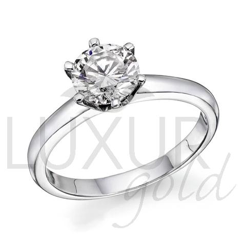 Zásnubní diamantový prsten, bílé zlato, ARTEMIS, GEMS, 40610701 (40610701)