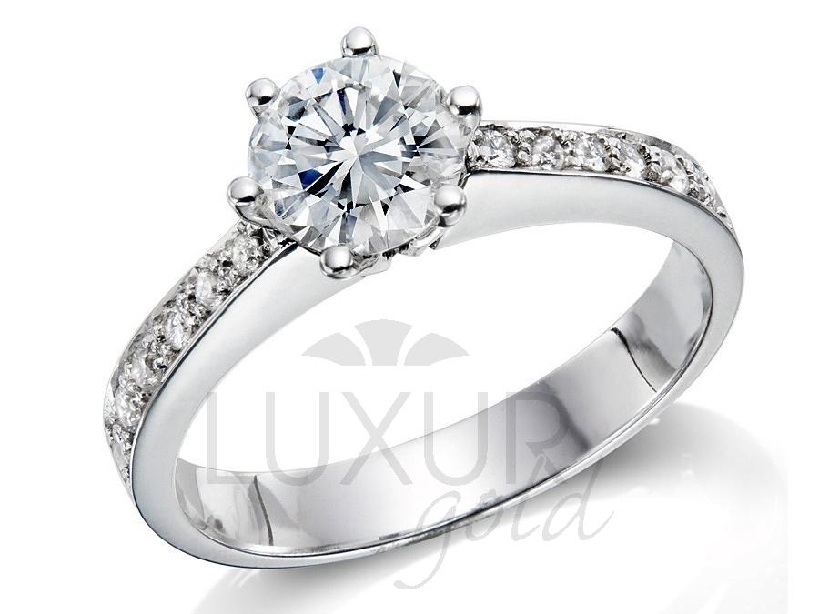 Diamantový prsten, bílé zlato, REINA, GEMS, 40610850 (40610850)