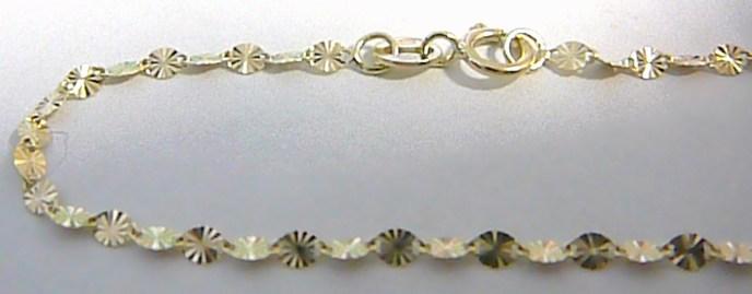 Pevný gravírovaný vzorovaný dámský zlatý řetízek 585/1,39gr 42cm H109