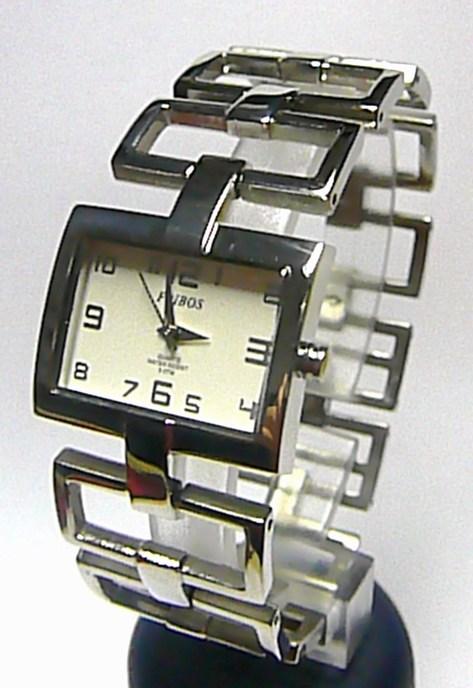 Dámské ocelové stříbrné moderní hodinky Foibos 1833