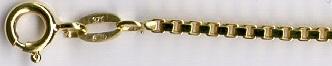VENETIAN - zlatý řetízek - benátský (venezia) vytvoř si vlastní řetízek KVD 035