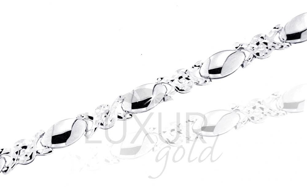 Mohutný ozdobný náhrdelník z bílého zlata 585/4,25gr 17cm (1490485-0-17-0)