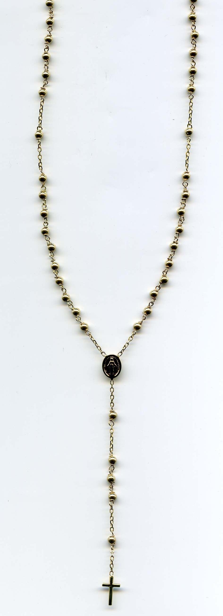 Zlatý velký růženec 247/ROS/01 585/5,1g/50cm - růženec s madonkou a křížkem