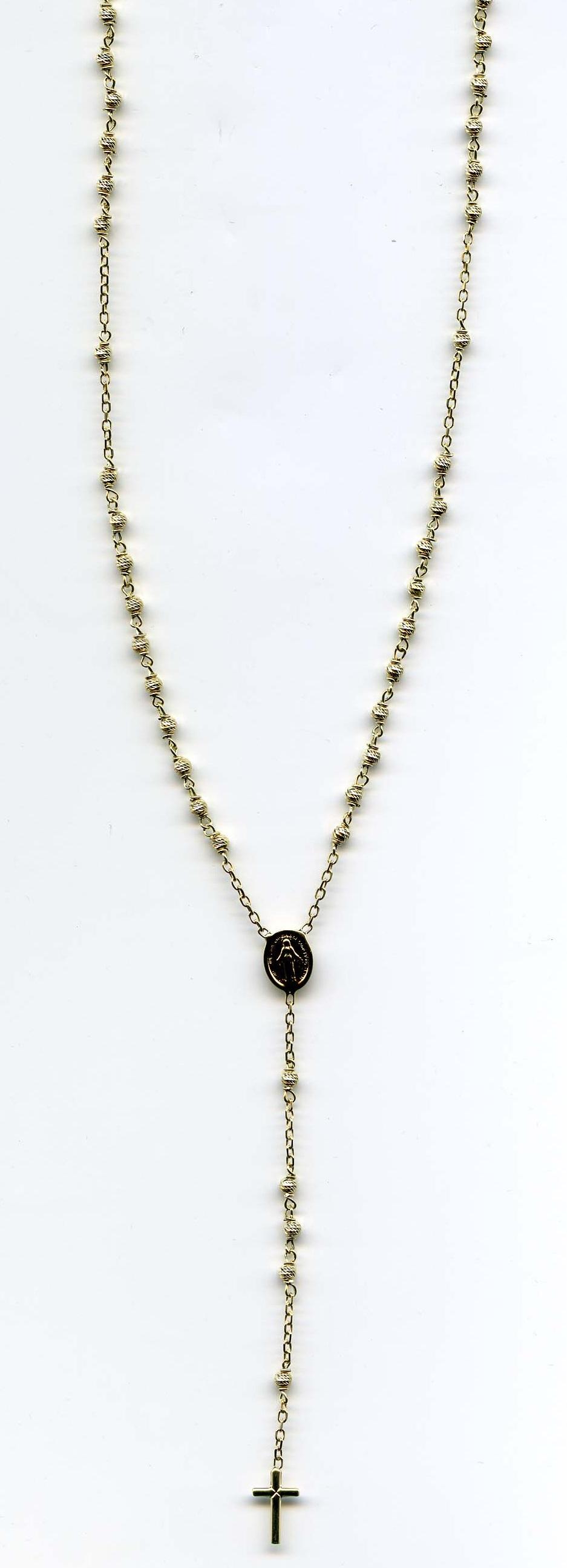Zlatý velký růženec 247/ROS/02 585/6,0gr/50cm - růženec s madonkou a křížkem