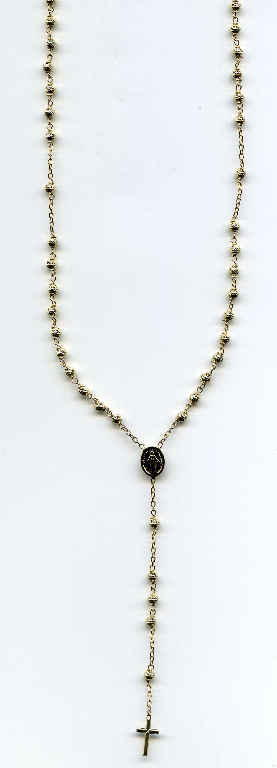 Zlatý velký růženec 247/ROS/03 585/7,3gr/50cm - růženec s madonkou a křížkem